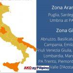 Rehiyon zona arancione zona gialla Ako Ay Pilipino