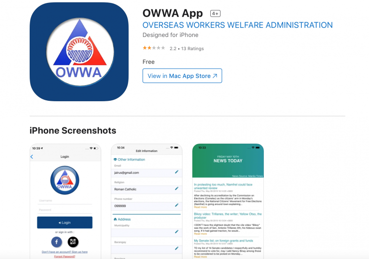 OWWA Membership renewal Ako Ay Pilipino